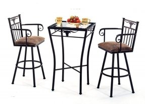 Wrought Iron Counter Height Table Foter