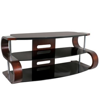 Lumisource TV-TS-120-1T 52in. Metro TV Stand, Dark Wood Veneer