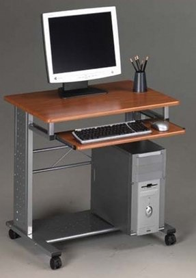 small computer table on wheels foter. Black Bedroom Furniture Sets. Home Design Ideas