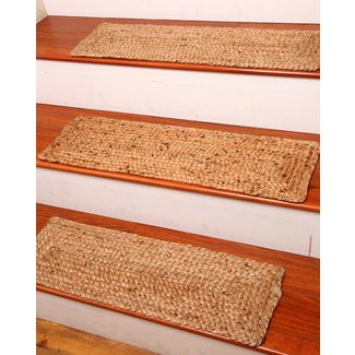 Naturalarearugs Broadway Jute Carpet Stair Treads