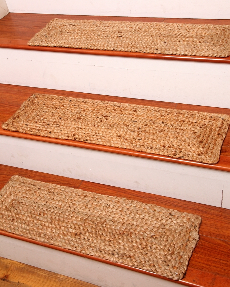 Bon NaturalAreaRugs Broadway Jute Carpet Stair Treads, ...