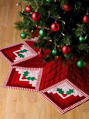 quilted christmas tree skirts to make - Quilted Christmas Tree Skirt Pattern