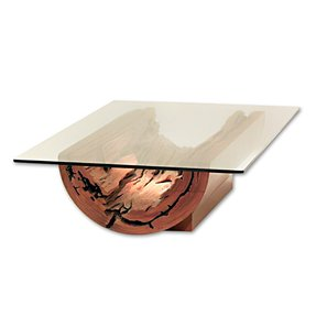 Square wood and glass coffee table 14