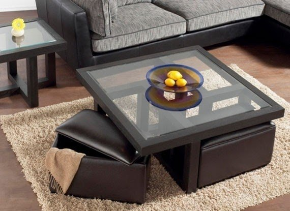Perfect Square Wood And Glass Coffee Table 7
