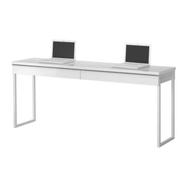 Best Burs Desk High Gloss White