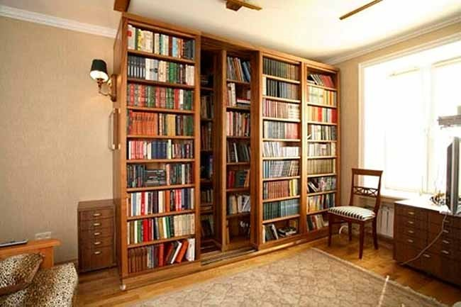 Superb Bookshelf Sliding Door