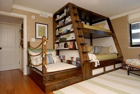 Bunk bed bookshelf