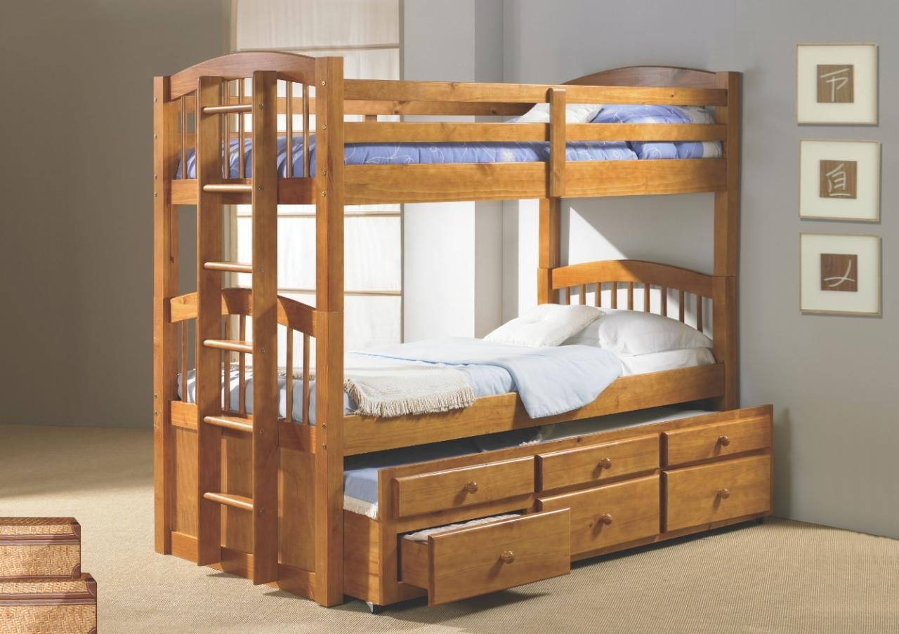 Childrens Bed With Trundle And Storage