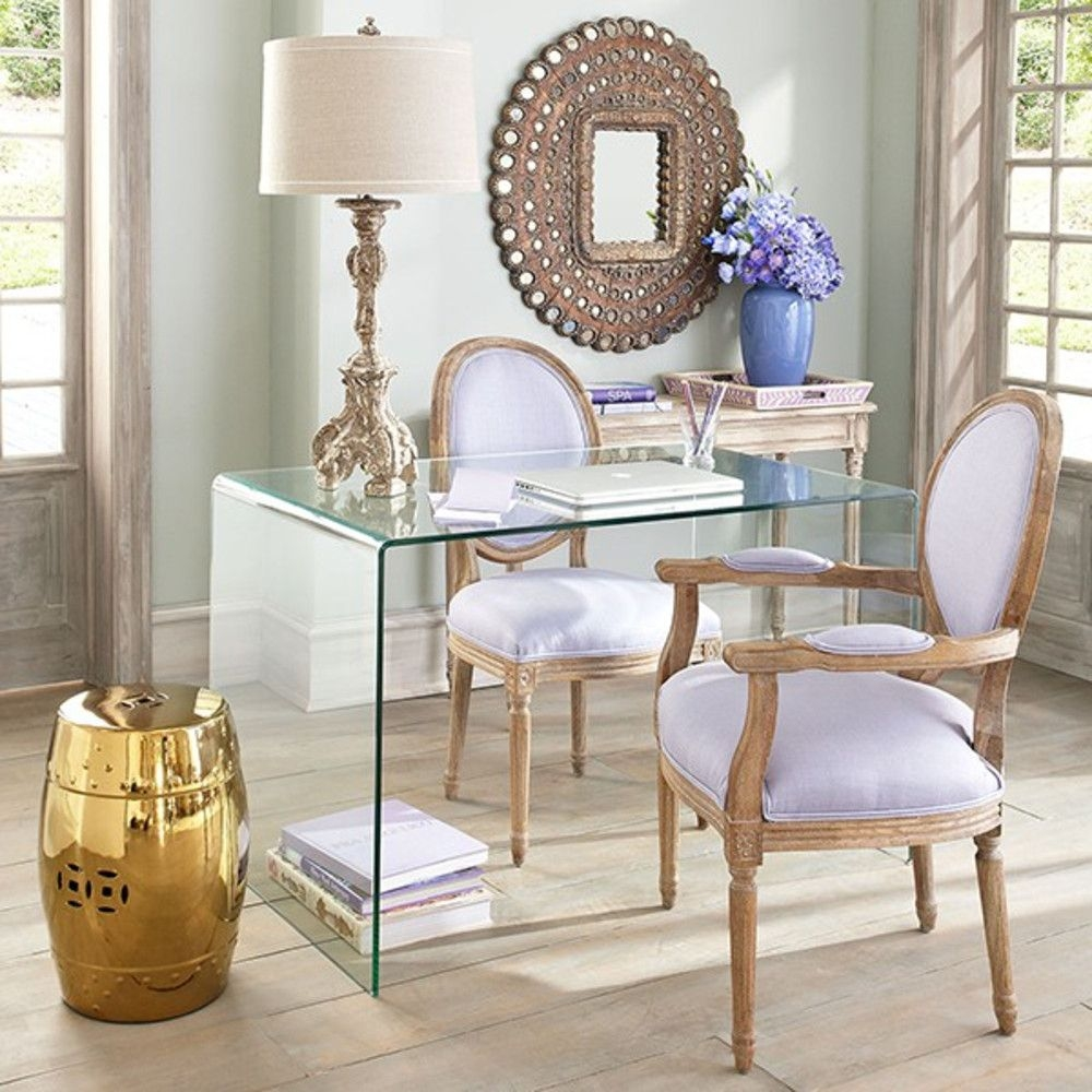 Clear Glass Console Table Foter