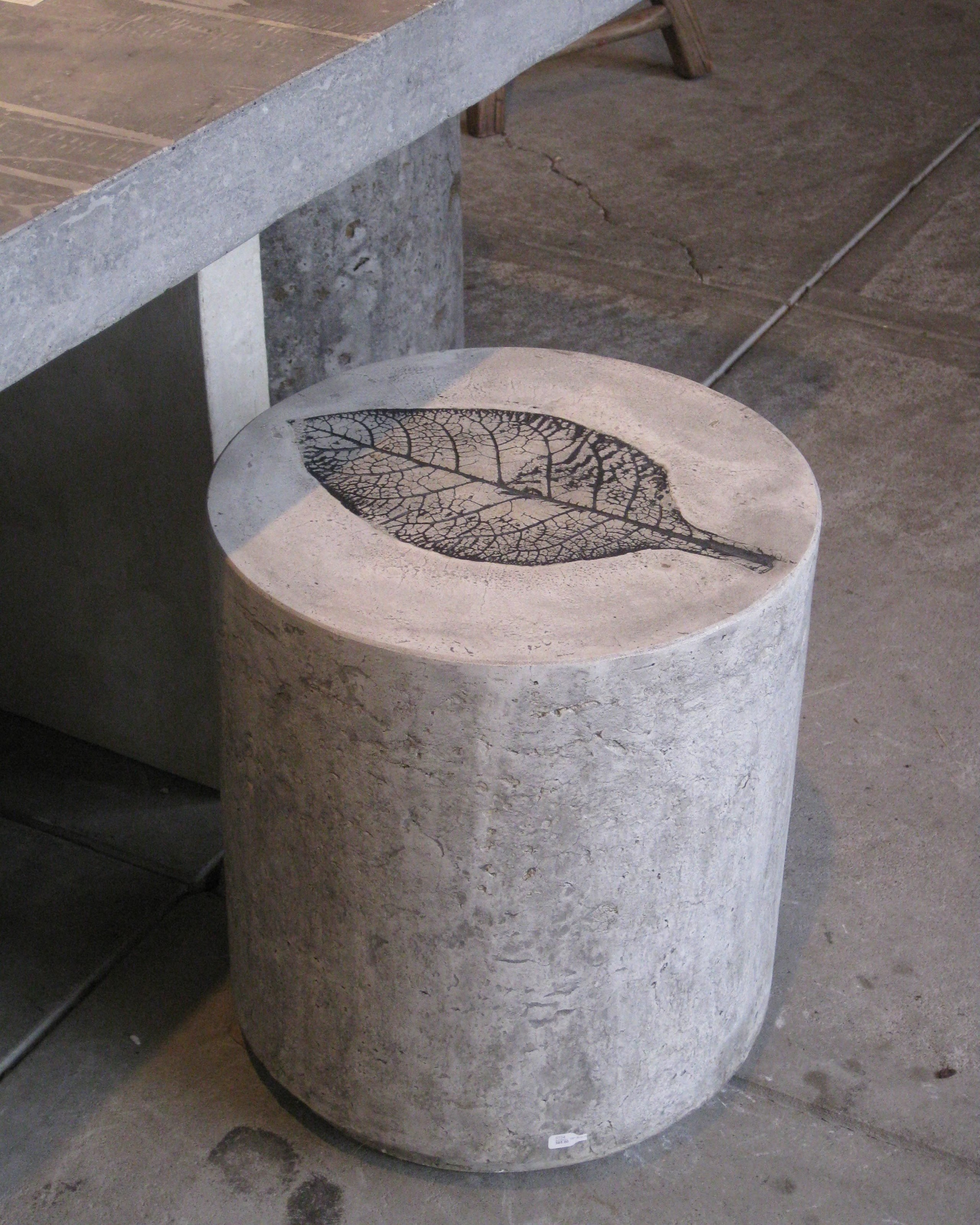 Concrete mushroom table and chairs & Outdoor Garden Stool - Foter