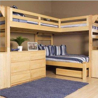Triple Loft Bunk Bed Ideas On Foter