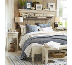 Distressed white bedroom furniture sets