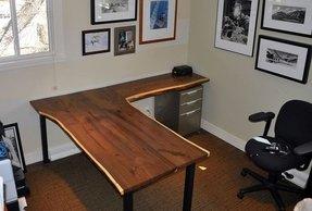 wood l shaped desk - foter