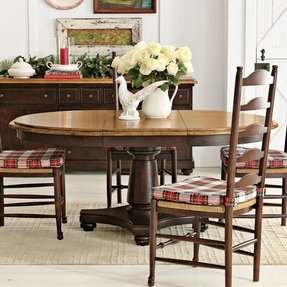Round Dining Table For 6 With Leaf - Foter
