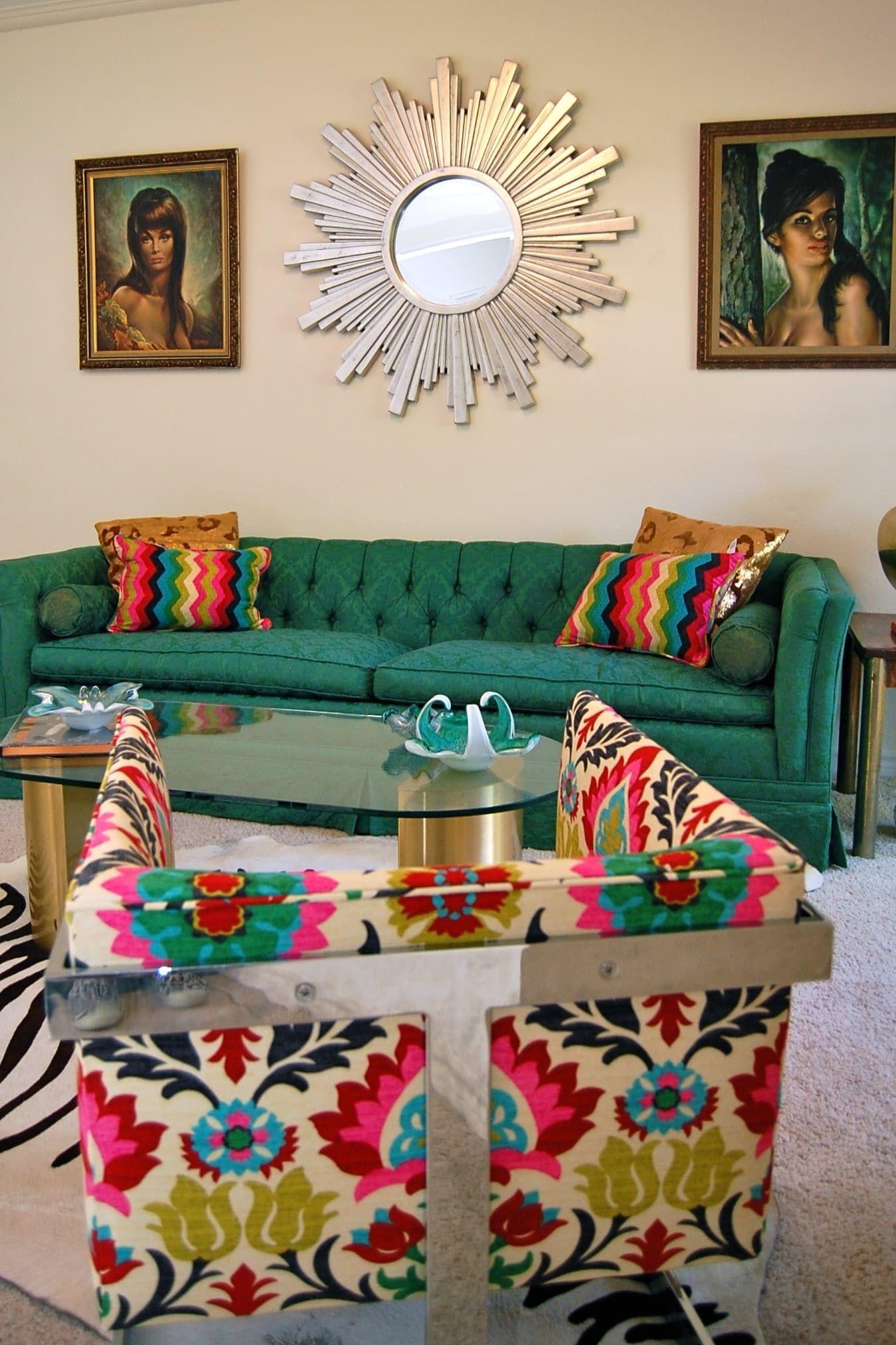 Nice Floral Print Fabric Sofas