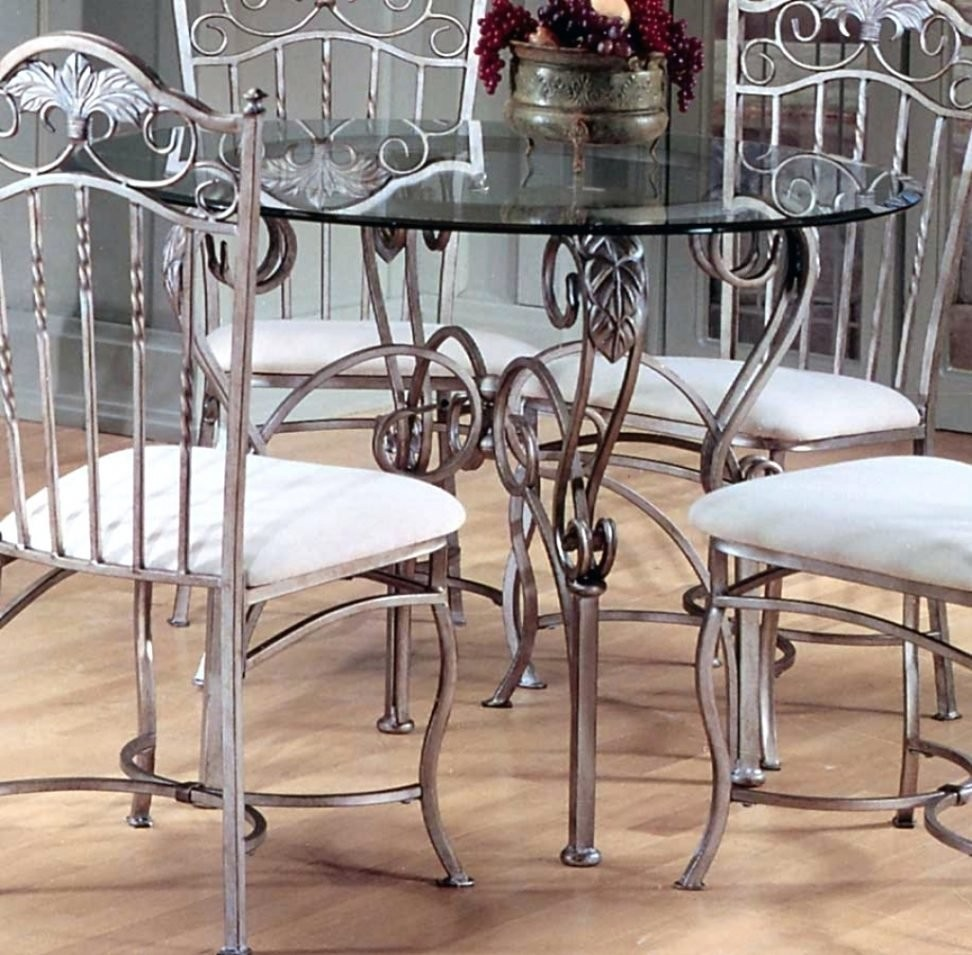 Glass Top Dining Table With Metal Base
