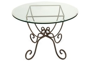 Glass Top Wrought Iron Dining Table Ideas On Foter