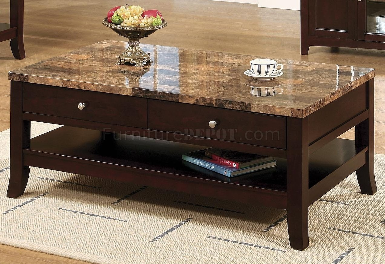 Granite Top Coffee Table