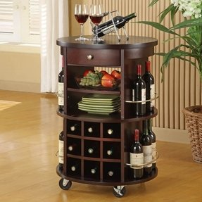 Hall table with wine rack