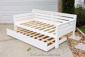 Handmade daybed and trundle solid pine
