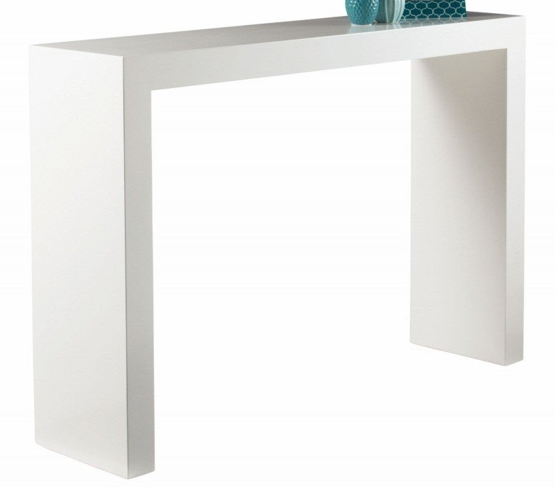 White High Gloss Console Table Foter