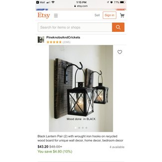 Indoor lantern wall sconce