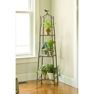 Indoor tiered plant stand