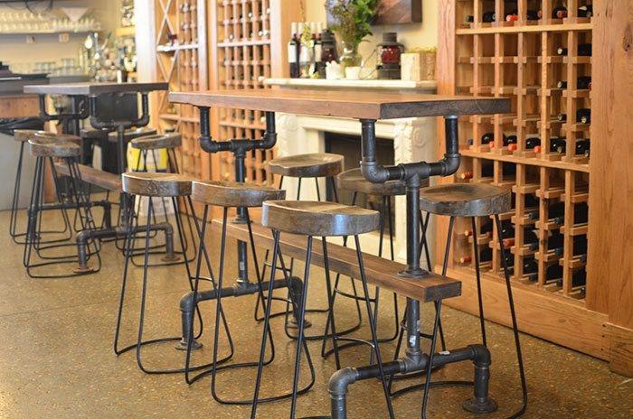 Etonnant Industrial Farmhouse Bar Height Kitchen