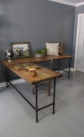 Pleasing Wood L Shaped Desk Ideas On Foter Download Free Architecture Designs Intelgarnamadebymaigaardcom