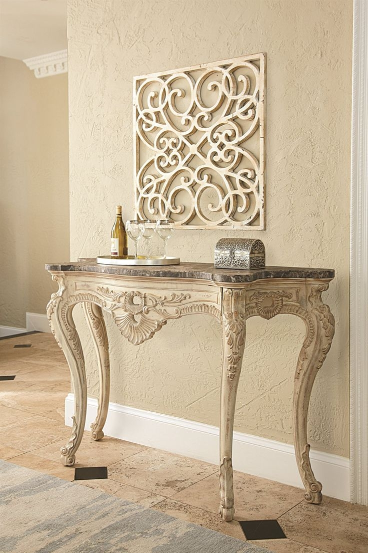 Iron And Glass Console Table 1