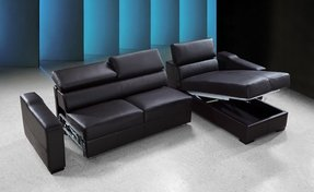 Leather sectional sofa with sleeper 2