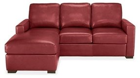 Leather sleeper sofa sectional 1