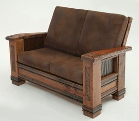 Leather sofa loveseat and chair 4