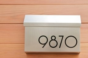 Mailbox address numbers