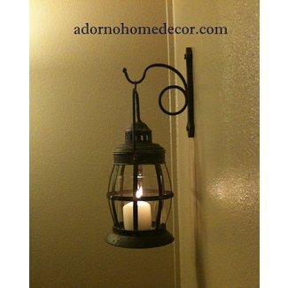 Metal lantern wall sconce rustic industrial antique vintage shabby unique