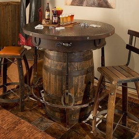 Metal pub table