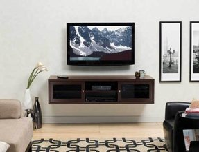 Mirror Cabinet Media Solution Floating Tv Wall Mounted Console