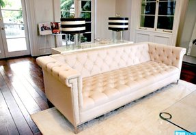 Nailhead leather couch 3