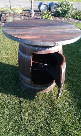 Outdoor barrel table