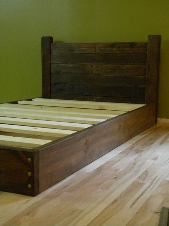 Platform Bed Twin Bed Low Profile Bed