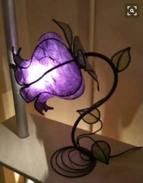 Purple bedside lamps