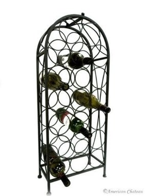 Rod iron wine rack