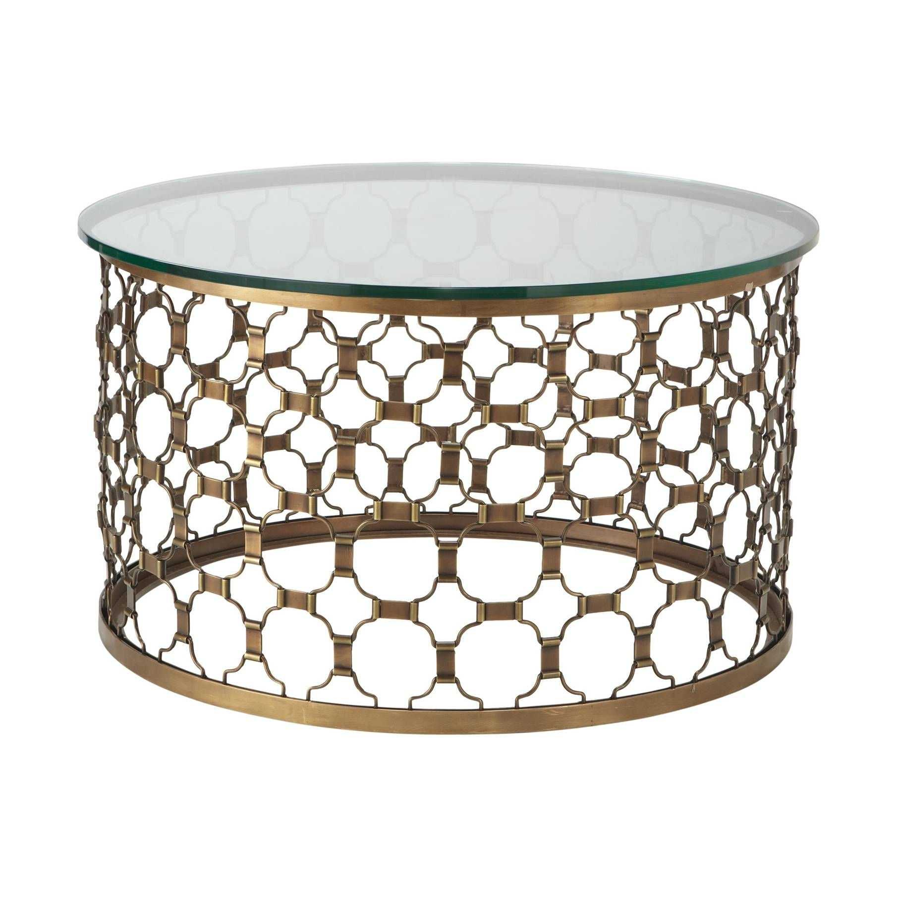 Round Coffee Tables With Glass Top Foter