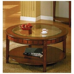 Round coffee tables with glass top 14