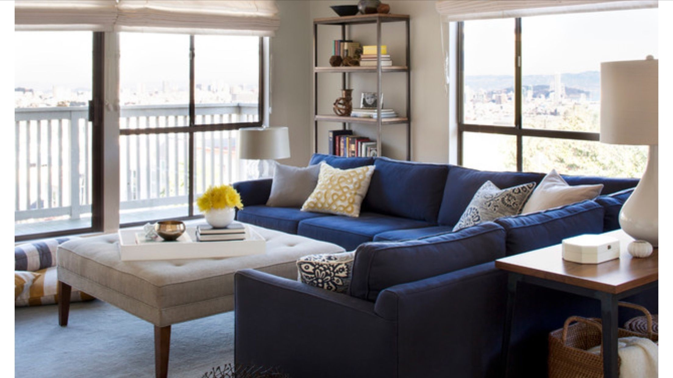 Royal Blue Sectional Couches