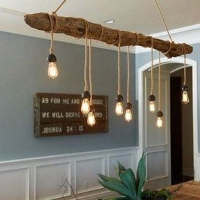 Rustic Wood Chandelier 2 Ceiling Light