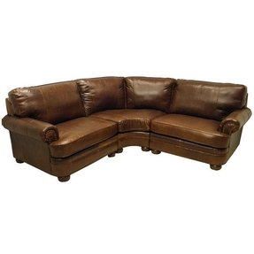 Small leather sectional sofa 1