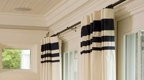 Striped panel curtains 2