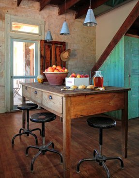 Tall kitchen table with stools