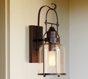 Lantern Wall Sconce - Foter | verano outdoor wall sconce